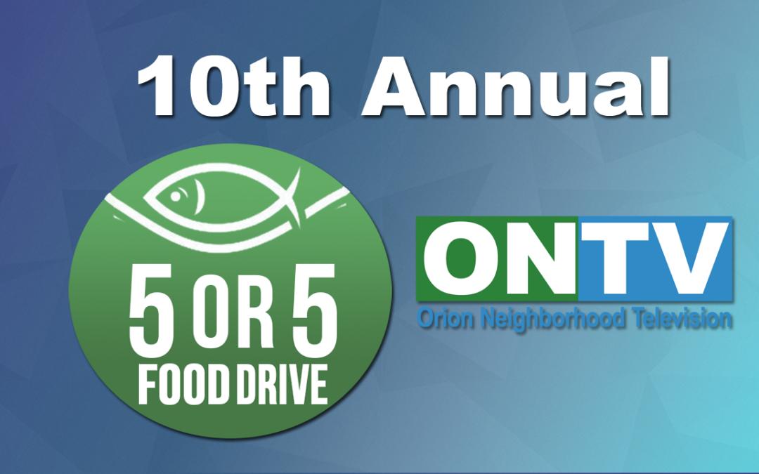 10th Annual ONTV Food Drive