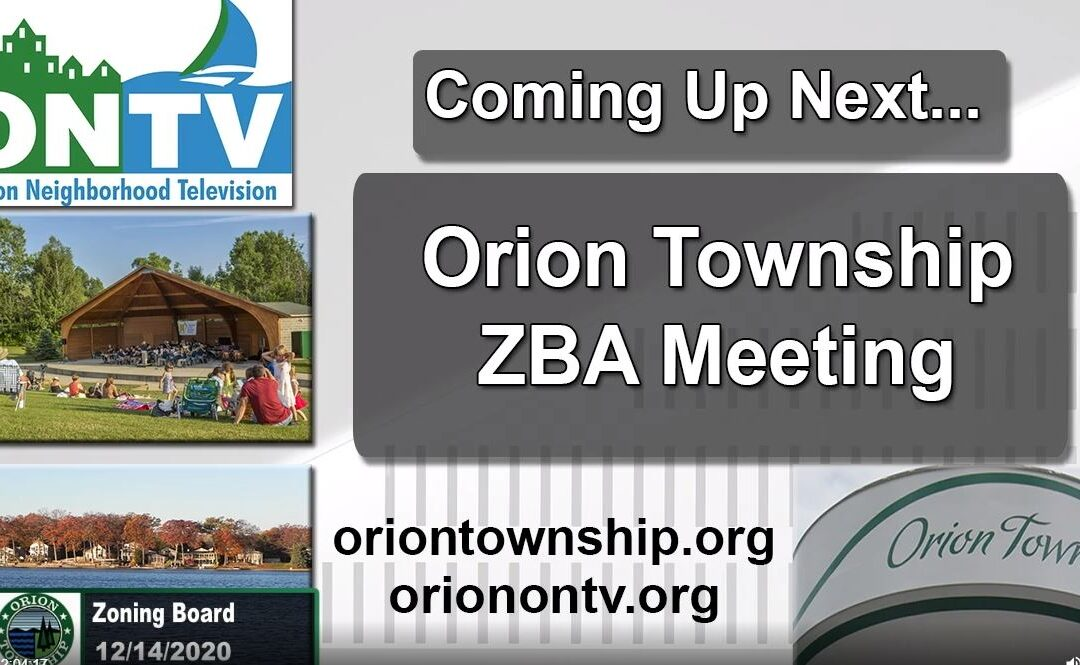 Orion Township ZBA Meeting of 12-14-2020