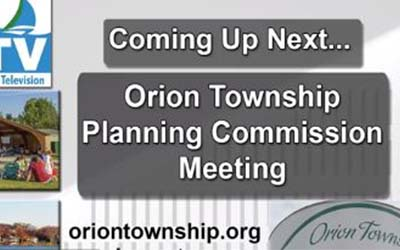 Orion Township Planning Commission Meeting of Aug. 4, 2021
