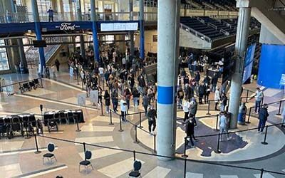 DNR: team aids vaccination effort at Ford Field