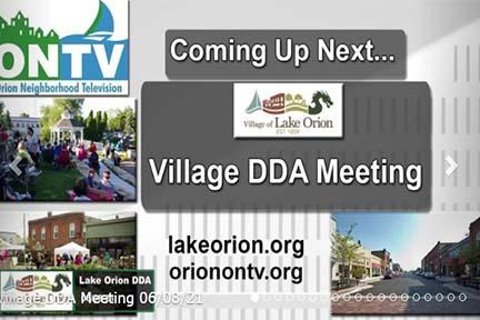 Lake Orion Village DDA Meeting of June 8, 2021