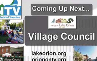 Lake Orion Village Council Meeting 09-13-2021